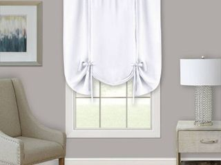 Achim Darcy Window Curtain Tie Up Shade   58x63   White