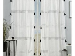 Exclusive Home Curtains Demi light Filtering Hidden Tab Top Curtain Panel Pair  54x96  Black  Set of 2