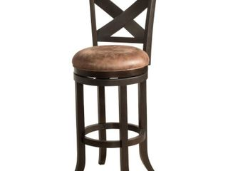Hillsdale Furniture Brantley 26 in  Deep Bronze Swivel Counter Stool  Weathered Brown Deep Bronze