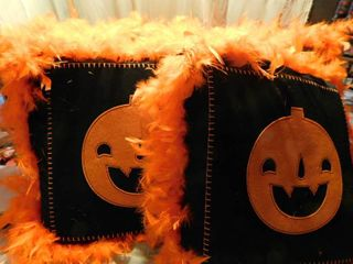 Jack O lantern Pillows  4 ea