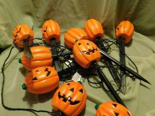 Jack O lantern Sidewalk lights  10 ea