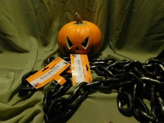 Halloween Chains  2 strands    Jack O lantern