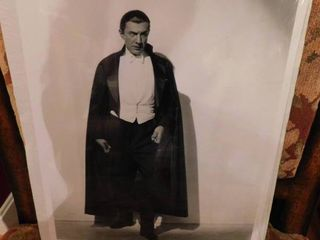 Black   White Bela lugosi as Dracula Print