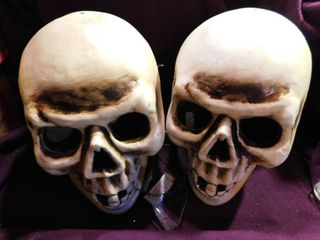 Two light Up Skulls