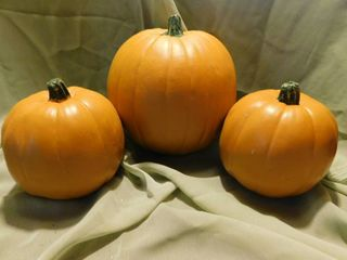 Set of Three Resin Pumpkins