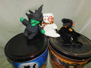 Halloween Tins & Beanie Babies