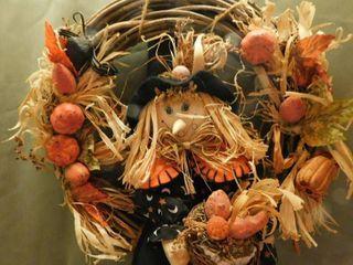 Halloween Scarecrow Wreath