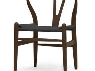 Carson Carrington Akaa Dark Brown Wood Y Dining Chair  Set of 2