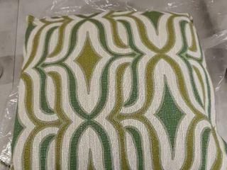 2 Camara Geometric Throw Pillows Peridot