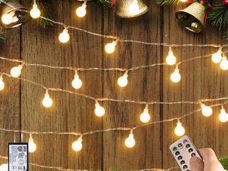 Crystal Ball 100 lED Globe String lights with Remote   Timer   Medium