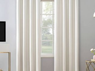 Pack of 2 Sun Zero Niko Textured Grid Thermal Extreme 100  Total Blackout Grommet Curtain Panel