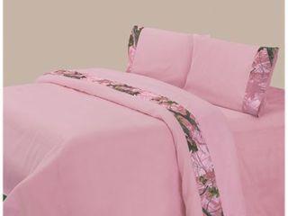 HiEnd Accents Oak Camo Sheet Set  King  Pink