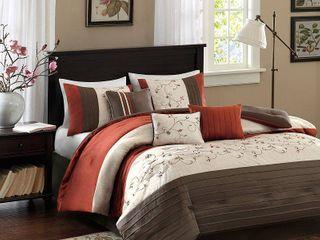 Madison Park Mandara 7 Piece Comforter Set  Retail 122 24