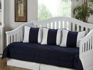 Cabana Navy Blue and White 5 Piece Daybed Set  Retail 139 99