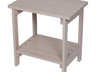 Indoor Outdoor Rectangular Side Table - Graystone - Shine Company Inc.
