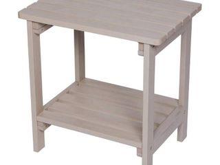 Indoor Outdoor Rectangular Side Table   Graystone   Shine Company Inc