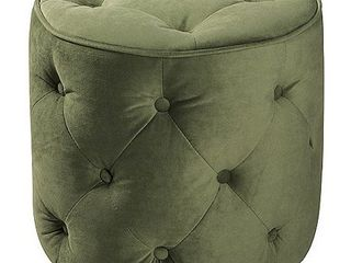 Curves Tufted Round Ottoman  Multiple Colors