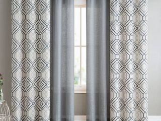 VCNY Home Jackston 4 Pack Printed Window Curtains