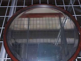 Toronto Framed Round Mirror in Vintage Cherry  Retail 121 99