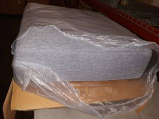Pier Outdoor Patio Teak Grey Ottoman Cushion