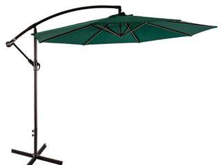 Weller 10 Ft Offset Cantilever Hanging Patio Umbrella   Retail 142 99
