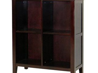 Ferndale Espresso Storage Bookcase with Two Adjustable Shelves  Retail 222 99
