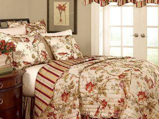 Waverly Charleston Chirp Cotton Quilt Set  Retail 129 99