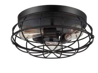 Carbon loft Yunus English Bronze 15 inch Flush Mount  Retail 132 99