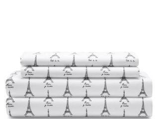 Whimsical Microfiber Print Bed Sheet Set