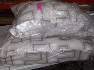 Sunbrella Resonate Dune Corded Sofa Cushion and Pillow