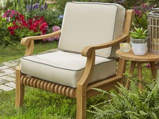 Kokomo Teak lounge Chair Cushion Set with Sunbrella Fabric   23 5  x 23  x 5    Retail 184 49