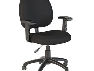 Bush Business Accord Task Chair with Arms in Black Fabric