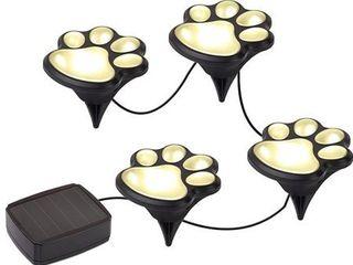 Solar Paw Print lights  set of 4