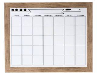 DesignOvation Beatrice Framed Magnetic Dry Erase Monthly Calendar