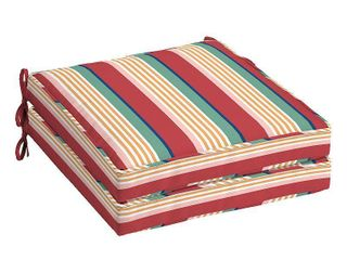 Arden Selections Keeley Stripe Outdoor Welted Dining Seat Cushion  2 pack   21 in l x 21 in W x 5 in H
