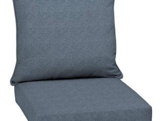 Arden Selections Denim Alair Olefin 46 5 x 24 in  Outdoor Deep Seat Cushion Set
