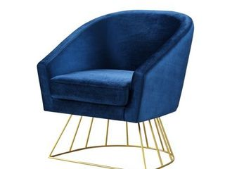 Inspired Home Sabrina Velvet Accent Chair with Metal Base