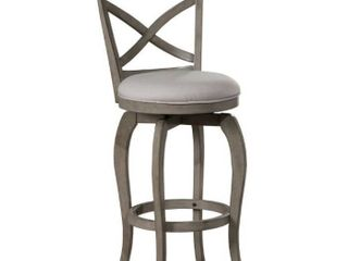The Gray Barn Chatterly Aged Grey Swivel Counter height Stool