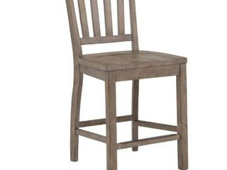 The Gray Barn Manderley Traditional Dove Tail Grey Counter Chair  Retail 259 99
