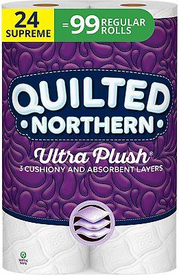 24  Quilted Northern UltraPlush Supreme Bathroom Tissue Rolls