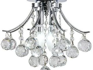 Broadway Silver Classic Chandelier  Chrome  w16 x h13