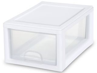 Sterilite 6 Qt 5 7 l Stacking Drawer  White   12 7 8  x 8 7 8  x 6