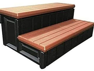 leisure Accents 36  Black Redwood Spa Step Storage