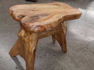 Solid Wood Short Bench
