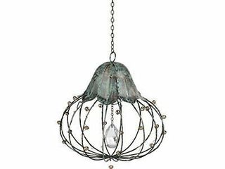Crystal Hanging light led large By Grasslands Road W  Chain   Hook Bo nwt