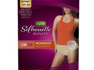 Depend Silhouette Active Fit Incontinence Underwear for Women  Moderate Absorbency  S M  Beige  60 Count