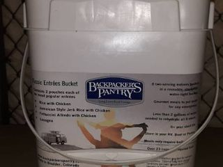 Backpacker s Pantry 8 Two Serving Entrees Packed in a Reusable Stackable Water Tight Bucket