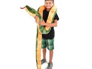 rhode island novelty giant anaconda snake plush toy 100  long