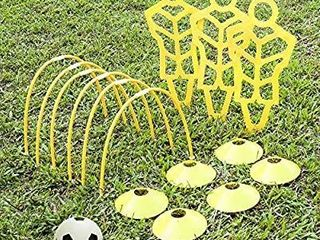 A11n Soccer Training Set 3 Mannequins 6 Passing Arcs 6 Disc Cones 1 Ball   Pump