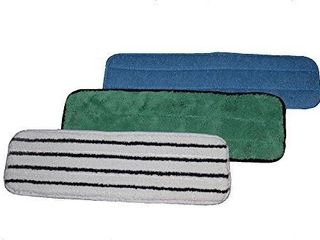 2  Microfiber Mop Pads Combo Pack   Professional Quality Wet Mop Pad  Dust Mop Pad